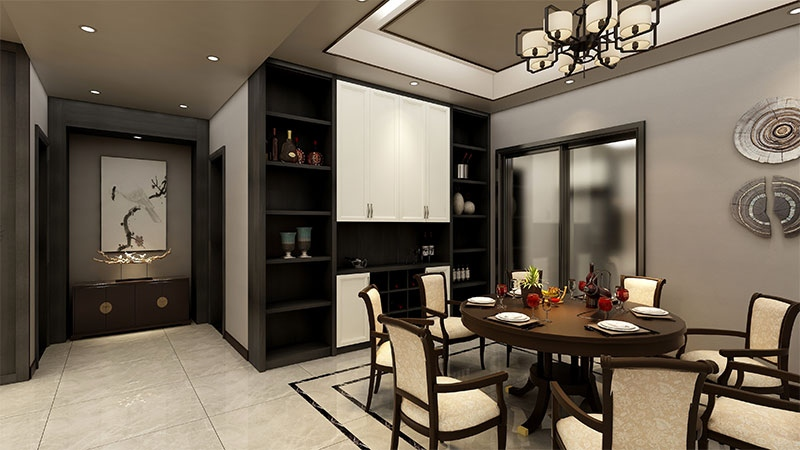 艺龙蓬莱设计风格-餐厅