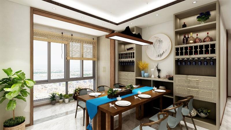 艺龙平仄设计风格-餐厅酒柜