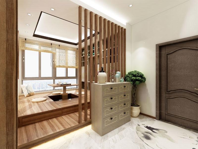 艺龙新中式平仄风门厅
