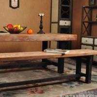 复古做旧家具办公桌客厅实木餐桌 办公会议电脑桌 咖啡厅餐厅餐