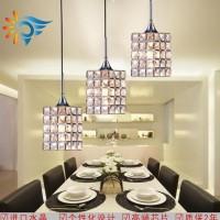 九虎灯饰新款欧式K9水晶方形吊灯餐厅灯客厅吊灯直销