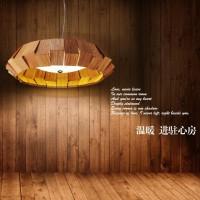 设计师北欧个性实木艺术吊灯创意LED办公室客厅餐厅酒吧卧室灯具