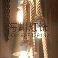 灯具定制厂家生产多头麻线吊灯 艺术麻绳吊灯