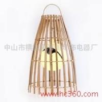 供应厂家定制创意竹木吊灯