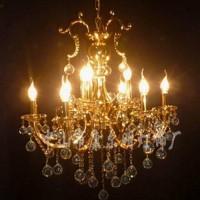 水晶灯具灯饰一级水晶吊灯金色家具客厅吊灯卧室灯KMD1223