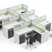 屏风卡位办公桌 屏风桌 工作卡位 员工桌 组合办公桌订做工作桌子