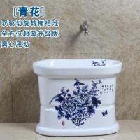 新款单驱动拖布盆拖布桶陶瓷双驱动自动下水转脱水墩布池